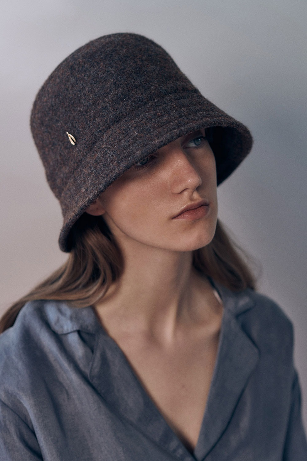 Wool bucket hat - Brown